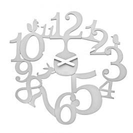 Koziol Nástěnné hodiny PI:P bílá, pr. 45 cm