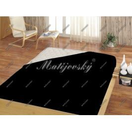 Matějovský prostěradlo Jersey černá, 160 x 200 cm