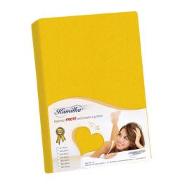 Bellatex Froté prostěradlo Kamilka žlutá, 200 x 220 cm