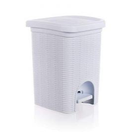 Koš odpadkový 6 L Ratan bílý