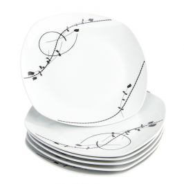 Domestic 6dílná sada mělkých talířů Londra, 25 cm