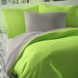 Kvalitex Saténové povlečení Luxury Collection světle zelená/světle šedá
