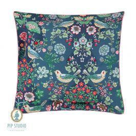 Čtvercový polštář Pip Studio Oh My Darling 45x45 cm modrá