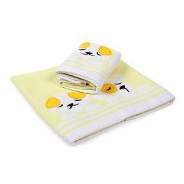 Dětský ručník Dogs žlutý 30x50 cm Ručník malý