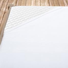 Flanelové prostěradlo bílé 100x200 cm jednolůžko - standard Flanel