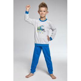 Chlapecké pyžamo Cornette Train  šedobílá