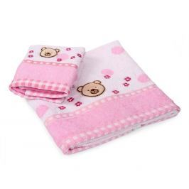 Dětský ručník Bear růžový 30x50 cm Ručník malý