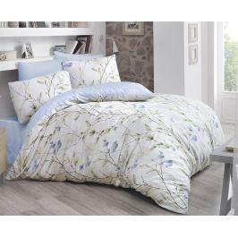 Povlečení Blossom modré 140x200 jednolůžko - standard bavlna