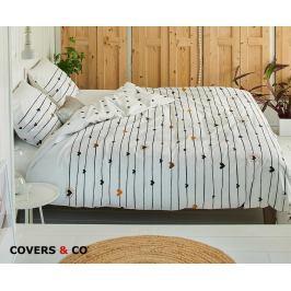 Povlečení  Covers & Co Lovelines 140x200 jednolůžko - standard bavlna