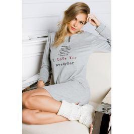 Dámská noční košilka Every Day I Love šedá  šedá