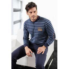 Pánské pyžamo ENRICO COVERI Athletic Blue  modrá