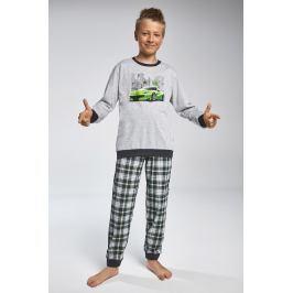 Chlapecké pyžamo Cornette Street  šedozelená