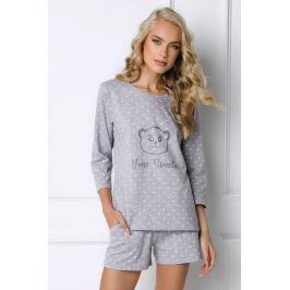 Dámské pyžamo Sweet Bear krátké  šedá