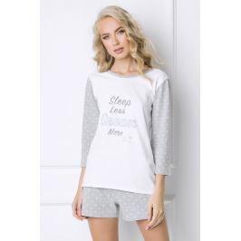 Dámské pyžamo Dreamy krátké  bílá/šedá