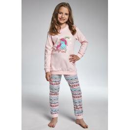 Dívčí pyžamo Cornette  Magic Time  růžovomodrá