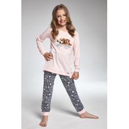 Dívčí pyžamo Cornette Bedtime Story  šedorůžová