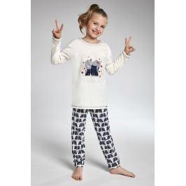Dívčí pyžamo Cornette Two Cats  béžovomodrá
