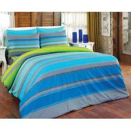 Povlečení Ella modrá 140x200 jednolůžko - standard bavlna