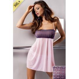 Luxusní komplet košilky a kalhotek Muna  fialová