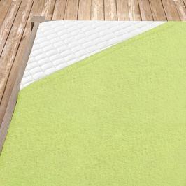 Napínací froté prostěradlo světle zelená Dvoulůžko Bavlna - froté