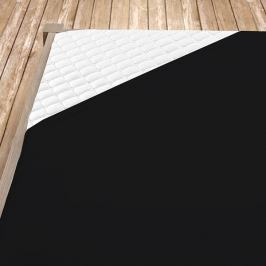 Napínací jersey prostěradlo černé Jednolůžko Bavlna - jersey