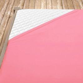 Napínací jersey prostěradlo světle růžové Jednolůžko Bavlna - jersey