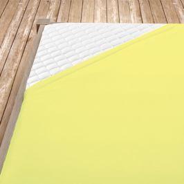 Napínací jersey prostěradlo světle žluté Jednolůžko Bavlna - jersey