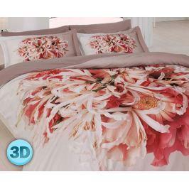 3D saténové povlečení Flor 140x200 jednolůžko - standard Bavlněný satén