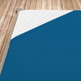 Napínací jersey prostěradlo tmavě modré Jednolůžko Bavlna - jersey