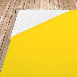 Napínací jersey prostěradlo žluté Jednolůžko Bavlna - jersey