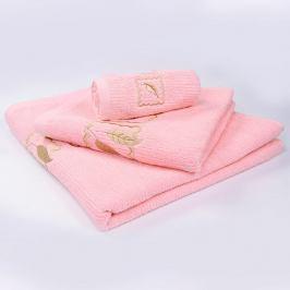 Ručník Grácie - růžový 30x50 cm Ručník malý
