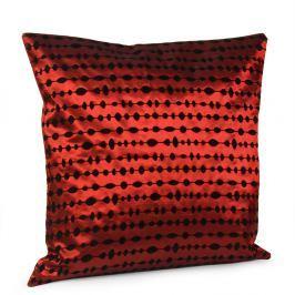 Povlak na polštářek Pearls červený 40x40 cm polyester