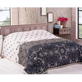 Přehoz Alberica hnědý 220x240 cm bavlna