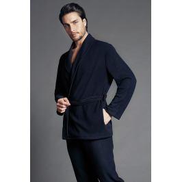 Pánský elegantní župan Fabrizio  modrá