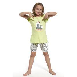 Dívčí pyžamo I see you  neonžlutá