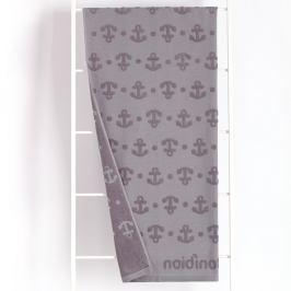 Plážová osuška Anchor šedá 90x170 cm šedá