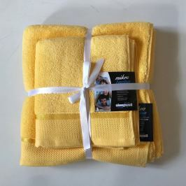 Dárková sada ručníků mikrobavlna žlutá Set Dvoudílný set