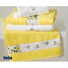 Dětský ručník Rujana Myši žlutý 30x50 cm bavlna