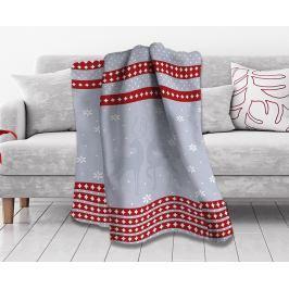 Vánoční deka Does 150x200 cm šedá