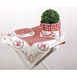 Kuchyňský SET Selský styl červený 90 x 90 cm červená