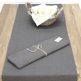 Běhoun na stůl Home Design šedý 45 x 150 cm šedá