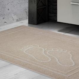 Koupelnová předložka Feet krémová 50x70 cm bavlna