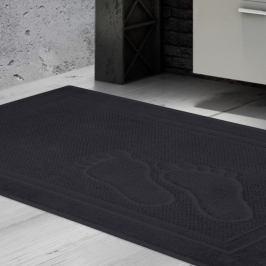 Koupelnová předložka Feet tmavě šedá 50x70 cm bavlna