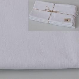 Prostěradlo bez gumy bílé 135x240 cm bílá
