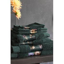 Ručník Essenza Home Fleur tmavě zelený 30x50 cm Ručník malý