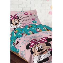 Dívčí povlečení Happy Minnie 140x200 jednolůžko - standard bavlna