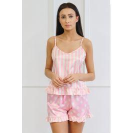 Saténové pyžamo Marylou  růžová