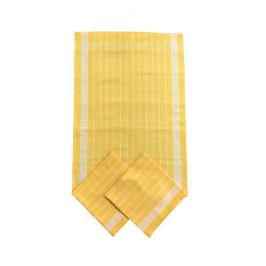 SET kuchyňských utěrek žlutý 50x70 cm bavlna