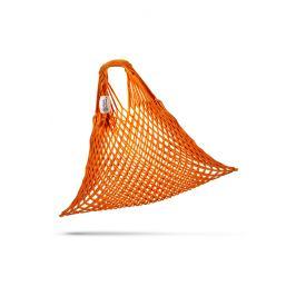 Oranžová pružná Česká síťovka síťová taška síťová taška