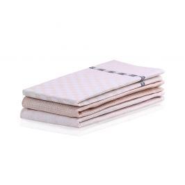 SET kuchyňských utěrek Louie béžový 50x70 cm bavlna